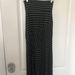 Gently Used Black & Tan Maxi Skirt